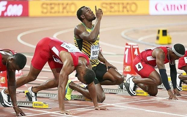 Usain Bolt beats Justin Gatlin at World Championships: stars united in praise of hero who 'saved athletics'