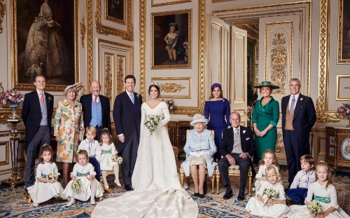 Official royal wedding photographs reunite Duchess of York and Duke of Edinburgh