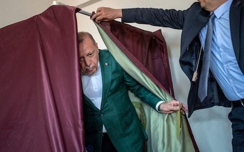Recep Tayyip Erdogan's party leads Turkish election viewed as referendum on presidency