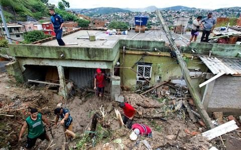 Brazil storms: At least 30 killed after devastating landslides