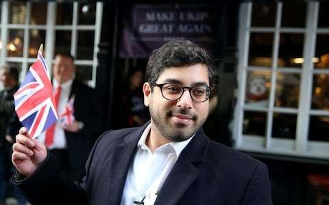 Raheem Kassam pulls out of Ukip leadership race because 'path to victory is too narrow'