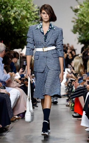 Power shoulders and polka dots: Michael Kors does American Dream dressing