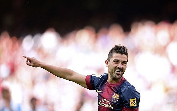 Barcelona's David Villa says he is happy at club despite interest from Premier League clubs