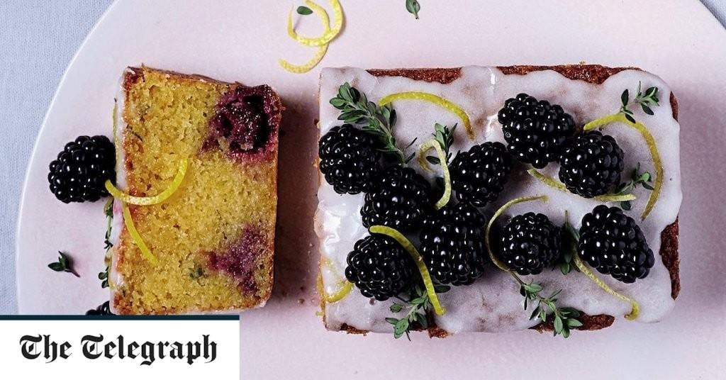 Lemon and blackberry drizzle cake recipe