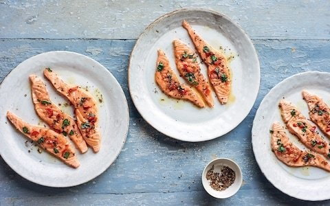 Three-minute fish recipe