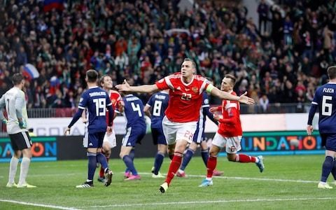 Scotland thrashed by Russia to leave Nations League as their only Euro 2020 hope