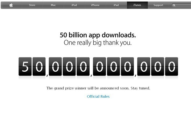 Apple App store hits 50 billion download milestone