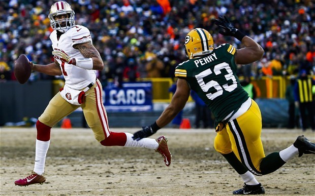 San Francisco 49ers beat Green Bay Packers 23-20 to reach divisional round of 2014 NFL playoffs
