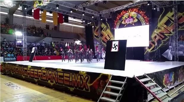 Girls dance team in Mexico criticised over bizarre 'Nazi dance'