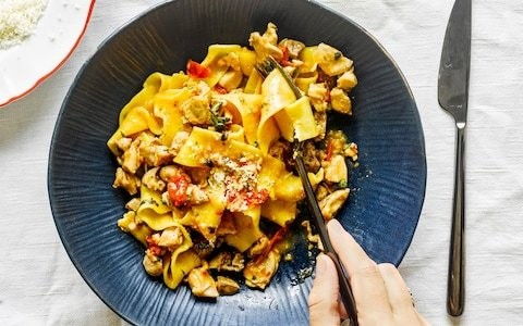Pappardelle with roasted rabbit and marjoram ragou recipe