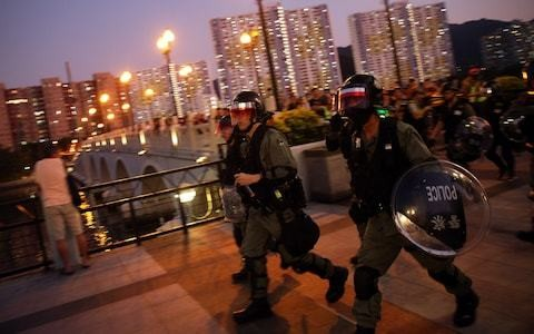 Hong Kong protests descend into violence ahead of Communist China anniversary