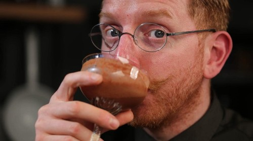 Paul A. Young's Seedlip chocolate sour cocktail recipe