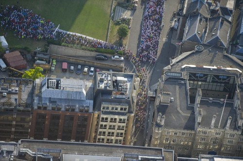 Aerial photographer Jason Hawkes flies over famous London landmarks.  - Telegraph