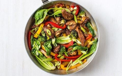 Five-spice chicken and vegetable stir-fry recipe