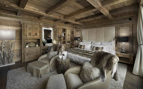 What an £18,600-a-night ski chalet looks like inside