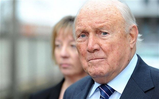 Paedophile Stuart Hall home for Christmas after serving half his sentences