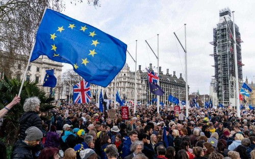 People's Vote campaigners march through London demanding public be given final say on Brexit