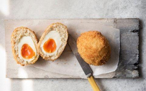 Seafood Scotch eggs