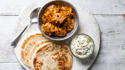 Keralan chicken curry with chillies and coconut milk