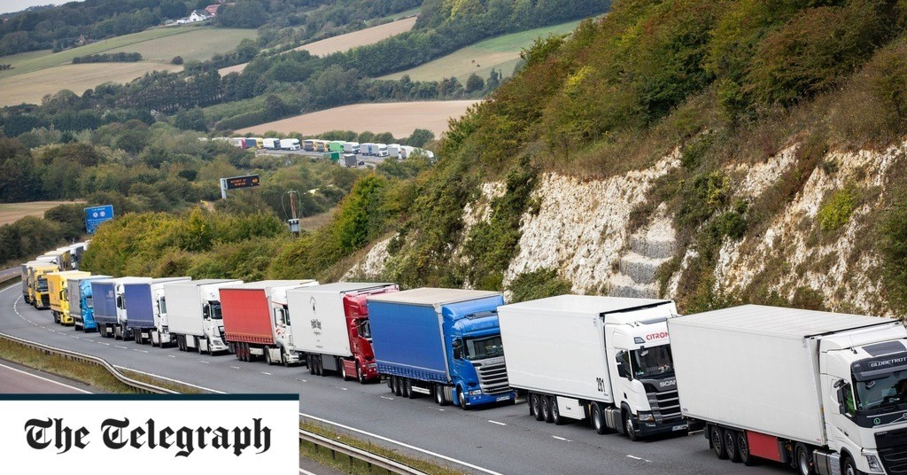 Brexit: Queues in Kent could be 7,000 trucks long and last days, Michael Gove says in leaked no-deal plan