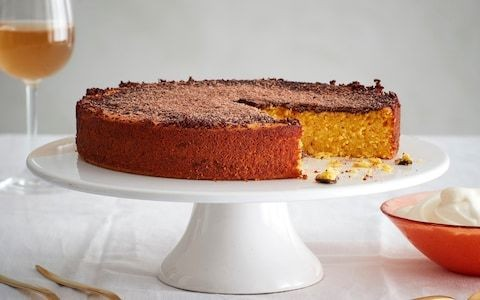 Clementine, chocolate and polenta cake recipe