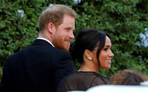 Duke and Duchess of Sussex, Princess Eugenie and Beatrice arrive for Misha Nonoo wedding