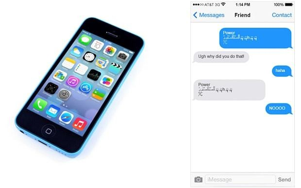 This 'effective power' text will make your friend's iPhone crash if you send it to them - here's how to protect your own phone