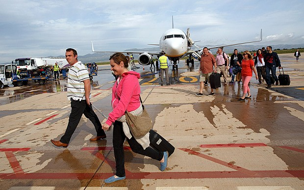 First commercial flight lands at Spanish 'ghost airport' nearly five years after it opened