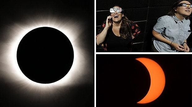 Solar eclipse 2017: best images, video and funny reaction as US witnesses incredible spectacle