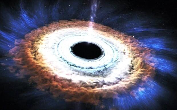 Animation shows how a black hole destroys a star