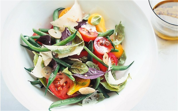 Tomato and basil salad with anchovy dressing recipe