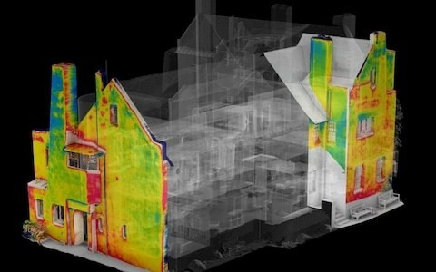 Thermal images disclose extensive damage to The Hill House, Charles Rennie Mackintosh's 'domestic masterpiece'