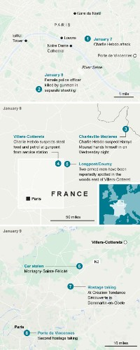 Terrorists killed at both Paris sieges after explosions