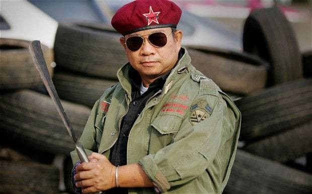 Thai red shirts leader says 'It's time to get rid of the elite'