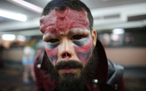 Extreme body modifications: Piercings, tattoos and implants on show in Caracas - Telegraph