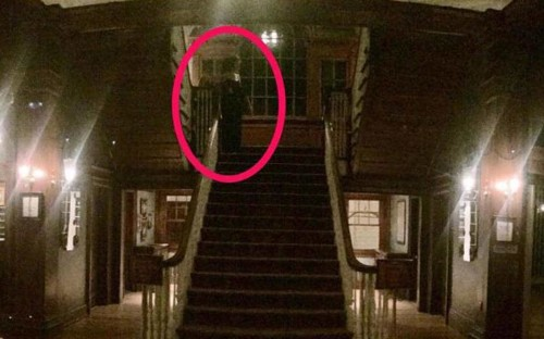 'Ghost' photographed at The Shining hotel
