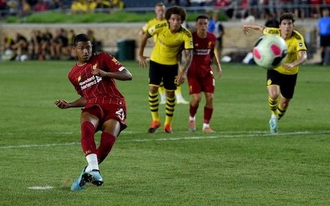 Jadon Sancho backs Rhian Brewster to enjoy breakthrough year at Liverpool after pre-season goal spree