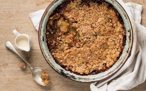 Salted caramel apple crumble recipe
