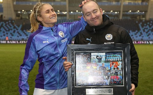 Manchester City send women's head coach Nick Cushing packing with smile on his face