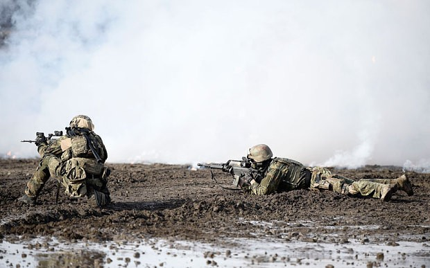 German army used broomsticks instead of guns during training