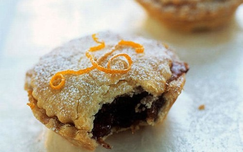 Mince pies with clementine curd and mascarpone