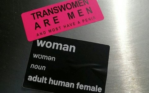 Police response to 'transphobic' stickers branded 'extraordinary'