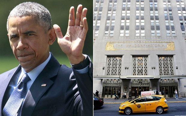 Barack Obama will avoid Chinese-owned Waldorf Astoria during UN summit