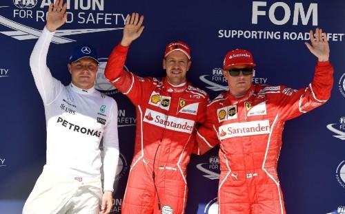 Lewis Hamilton starts fourth in the Hungarian Grand Prix as Sebastian Vettel takes pole position
