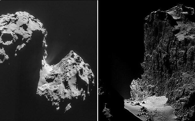 Rosetta images show soaring 1km comet cliff