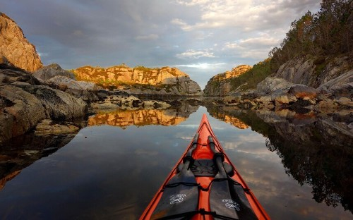Norway's most idyllic beauty spots through the lens of a kayaker's GoPro camera - Telegraph
