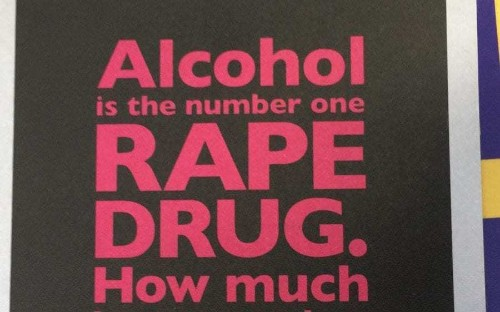 Police force apologises for leaflets linking rape to drinking alcohol amid accusations of victim blaming
