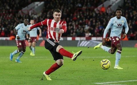 John Fleck brace helps Sheffield United grind out victory against meek Aston Villa