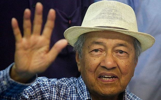 Former leader of Malaysia calls for removal of PM Najib Razak.