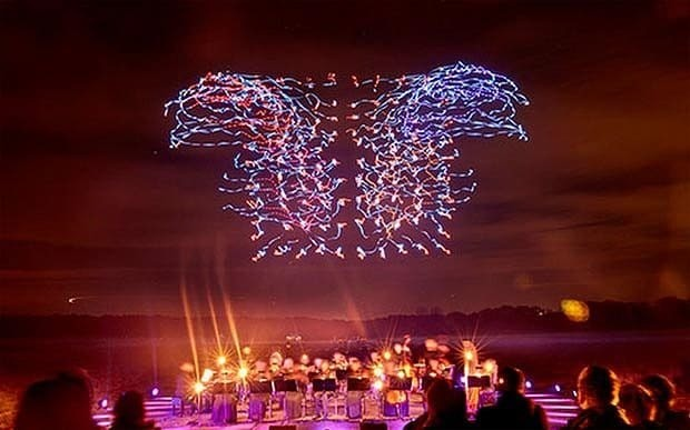 Fireworks of the future will be lit-up drones, Intel CEO says